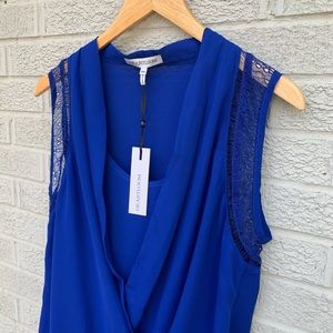 NEW Heartloom Twist Wrap Front Midnight Blouse
